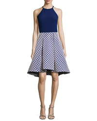 Phoebe Couture Sleeveless Combo Cocktail Dress