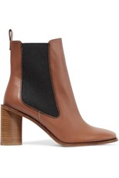 Acne Studios Bethany Leather Ankle Boots Tan