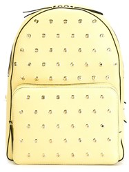 Red Valentino Eyelet Backpack Yellow And Orange