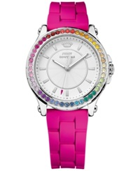 Juicy Couture Women's Pedigree Hot Pink Silicone Strap Watch 28Mm 1901277