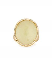 Marco Bicego Unico 18K Yellow Sapphire And Diamond Cocktail Ring Size 7