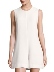 Kendall Kylie A Line Cutout Romper Bright White