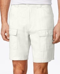 Tasso Elba Men's Linen Blend Cargo Shorts Only At Macy's White