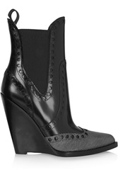 Alexander Wang Nadja Leather Wedge Ankle Boots