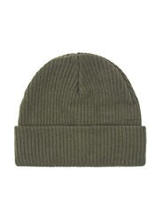 Topman Green Khaki Ribbed Classic Fit Beanie Hat