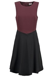 Vero Moda Vmcontrast Cocktail Dress Party Dress Fudge Dark Brown