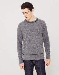 Nudie Jeans Co Dag Recycled Wool Knit Jumper Grey