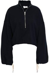 A.L.C. French Cotton Terry Sweatshirt Midnight Blue