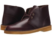 Clarks Desert Boot Wine Leather Men's Lace Up Boots Burgundy