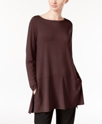 Eileen Fisher Boat Neck Tunic With Seam Detail A Macy's Exclusive Clove