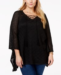 American Rag Plus Size Lace Poncho Sweater Only At Macy's