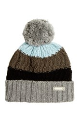 Bench Stormcloud Marl Knit Cuffed Ball Stocking Hat Gray