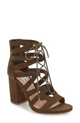 Steve Madden Women's 'Gal' Strappy Lace Up Sandal Olive