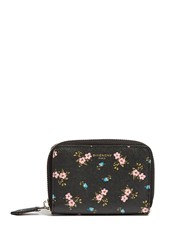 Givenchy Hibiscus Saffiano Leather Cardholder Black Multi