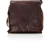 Campomaggi Men's Slim Crossbody Messenger Bag Brown