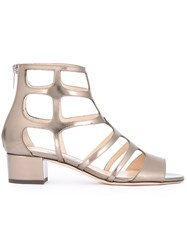 Jimmy Choo Ren Caged Sandals Metallic