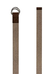 Topman Brown Stone Woven Double D Ring Belt