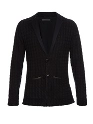 John Varvatos Cable Knit Cashmere Cardigan