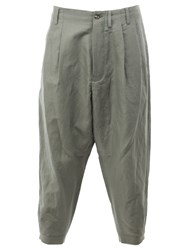 08Sircus Cropped Loose Fit Trousers Green