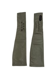 Maison Martin Margiela Fingerless Long Gloves Green