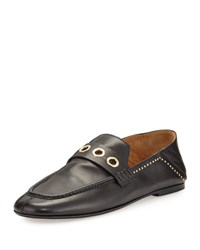 Isabel Marant Fosten Convertible Leather Loafer Black