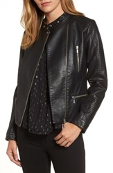 Halogenr Women's Halogen Quilted Faux Leather Moto Jacket