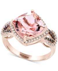 Effy Final Call By Morganite 3 1 2 Ct. T.W. And Diamond 1 3 Ct. T.W. Ring In 14K Rose Gold Pink