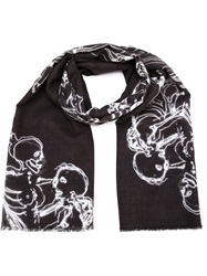 Lost And Found Printed Scarf Black