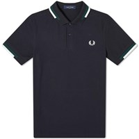 Fred Perry Abstract Tipped Polo Blue