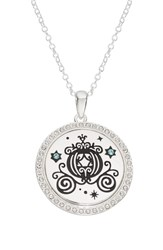 Disney Princess Cinderella Carriage 'The Adventure Is On' Pendant Necklace Silver