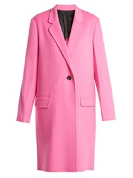 Helmut Lang Double Faced Wool Blend Coat Pink