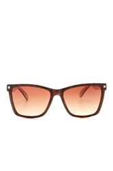 Bcbgmaxazria Women's Plastic Wayfarer Sunglasses Brown