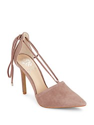 Vince Camuto Leather Point Toe Pumps Dark Pink
