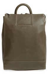 Matt And Nat 'Katherine' Faux Leather Backpack Green Olive