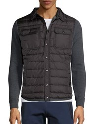 Moncler Quilted Long Sleeve Jacket Grey