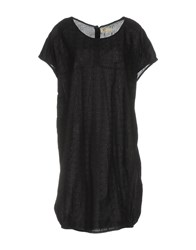Local Apparel Short Dresses Black