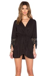 Liv Cross Over Tunic Dress Black