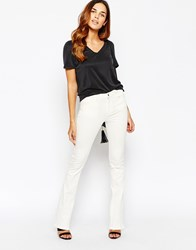 Warehouse White 70S Flare Jean