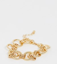 Designb London Chunky Chain Bracelet Gold