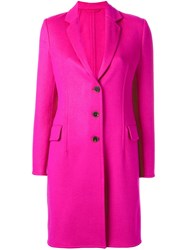 Ermanno Scervino Single Breasted Coat Pink Purple