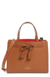 Kate Spade New York Hayes Street Small Isobel Leather Satchel Brown Warm Cognac