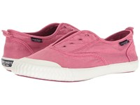 Sperry Sayel Clew Washed Canvas Berry Pink Women's Slip On Shoes Red