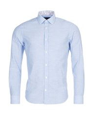 Eden Park Men's Slim Fit Cotton Shirt Blue