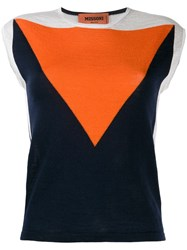 Missoni Colour Block Knitted Top Blue