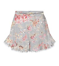 Zimmermann Mercer Flutter Frill Shorts Multicoloured