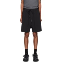 11 By Boris Bidjan Saberi Black Taffeta Shorts
