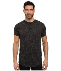 Publish Darwin Heathered Knit Henley Black Men's Clothing