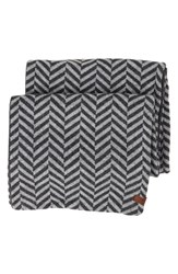 Men's Ben Sherman Reversible Chevron Knit Scarf Grey Smoked Pearl