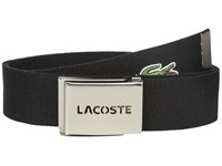 Lacoste 40Mm Gift Box Woven Strap Black Men's Belts