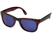 Vans Foldable Spicoli Shades High Risk Red Tortoise Sport Sunglasses